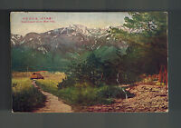 1920 Nagoya Japan Postcard cover to Detroit USA Sunset Snow Mt Hira Omi