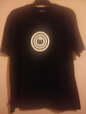 GUINNESS T SHIRT BLACK WITH WHITE TARGET SIZE M/L OFFICIAL MERCHANDISE VGC BEER