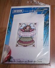 CHRISTMAS ANGEL BLESSINGS Design Works Cross Stitch Greetings Card Kit