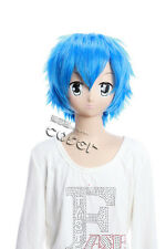 W-96 vocaloid Kaito bleu blue court 31 cm Cosplay Perruque Wig Anime Manga Perruque