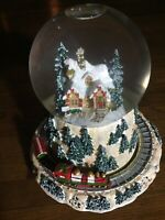Waterford Holiday Heirlooms Christmas Musical Snow Globe North Pole Train
