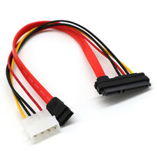 40cm SATA Combo 15 Pin IDE Power + 7 Pin Data Cable 4 Pin to Serial ATA Lead