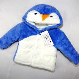 NEU, kuschelige  Baby Unisex Winterjacke Pinguin Gr. 62,68,74