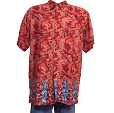 Marc Edwards Hawaiian Surfboard Camp Shirt Rayon Short Sleeve Size XL