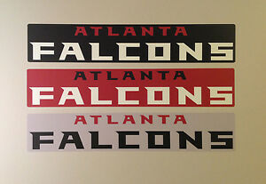 "Atlanta Falcons FATHEAD Team Banner Sign Lot/3 Different 26"" x 5"" NFL Graphics"
