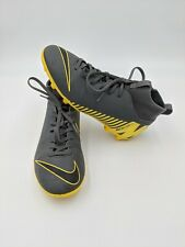 Nike Jr. Mercurial Vapor 12 Club Multi-Ground Soccer Cleats Size 6 Y Grey-Yellow