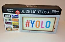 10 Sheet CUSTOMISABLE LED SLIDE LIGHT BOX MESSAGE BOARD & DRI-WIPE PEN 3xAA Wood