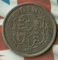 1817 King George 1 Shilling~~Great Britain 92.5% Silver~ Pretty Awesome Shape!!!