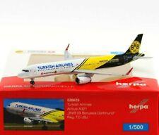 "Herpa 528825 - 1:500: Turkish Airlines Airbus A321 ""BVB 09 Borussia Dortmund"""