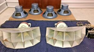 "40's STEPHENS Tru-Sonic Speaker FULL SET / PAIR~ Horn & 15"" western electric era"