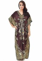 Long Kaftan Dress Hippy Boho Maxi, Free Size Women Caftan Tunic Dress Night Gown