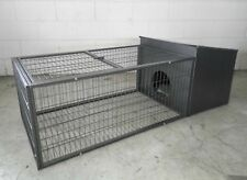 Brand New  Metal Rabbit Guinea Pig Ferret Hutch Small animals Cage 146cm * ED302