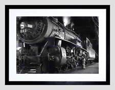 PHOTO 1955 STEAM TRAIN WINSTON LINK ENGINE NEW FRAMED ART PRINT MOUNT B12X11011