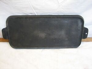 Antique Griswold no. 7 745 Cast Iron Pancake Griddle Lg Slant Logo ERIE PA USA