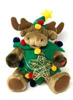 Christmas Reindeer Singing Plush Stuffed Animal Singing Jingle Bells