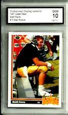 1991 Upper Deck # 13  Brett Farve *Rookie* Graded Gem Mint 10 Green Bay Packers