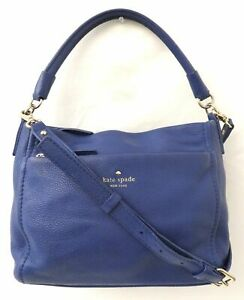 Kate Spade Blue Pebble Leather Small Shoulder Bag Purse