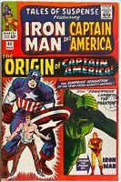 Tales Of Suspense #63 Captain America Silver Age Origin Issue KIRBY LEE IRON MAN