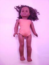 """African American Girl Doll 18"""" Dark Skin Hair Brown Eyes Truly Me? 2012 as is G6"""