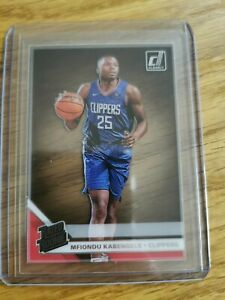 2019-20 Panini Donruss Clearly rated rookie Mfiondu Kabengele clippers nba RC#75