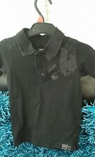 Boys Black Next Very Trendy Polo Shirt Aged 3 Years Must See