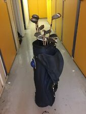 FULL SET Golf Clubs Forged TI Irons 3/SW 1/3/5 Woods-Hyb-Putter -bag-tees-balls