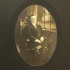 Hilton Studio Cabinet Card Portrait Gentleman Sitting In Chair Norfolk Virginia