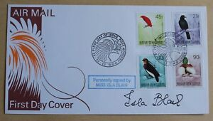 BIRDS OF PARADISE 1992 PAPUA NEW GUINEA FDC SIGNED BY ACTRESS ISLA BLAIR