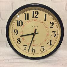 Bulova Quartz Wall Clock C4563 with Military Time