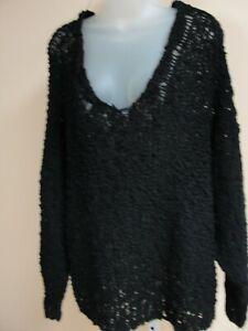 Free People Women's sweater,black,medium