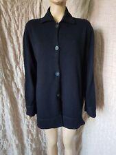 Brunello Cucinelli womens navy blue 100% cashmere collared cardigan size XL