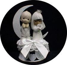 Bi-racial Wedding Cake Topper African-American Hispanic bride Caucasian Groom MO