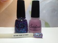 SAVINA Nail Colour GEM STONES & BASE AND TOP COAT - S97588 New