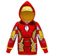 Boys Hoodie Jacket Fancy  Ironman  Kids Costume Kids Gift Super Heroes