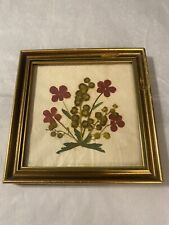 Vtg. Pressed Dried Flowers Made In Austria