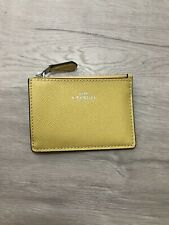 Coach Mini ID Skinny Key Chain Card Case Light Yellow