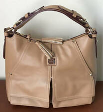 Dooney & Bourke Smooth Leather Kingston Hobo ~ Fawn Tan Brown