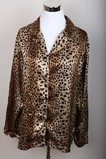 Victorias Secret Leopard Print Pajama Top Women's Size S