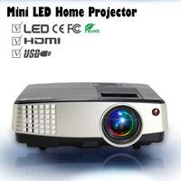 Tragbar LED HD Beamer 1080P Heimkino Projektor Videospiele HDMI USB VGA AV Video