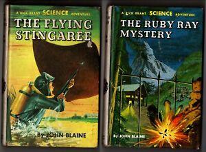 Rick Brant THE RUBY RAY MYSTERY #19 & FLYING STINGAREE #18 by John Blaine PC HC
