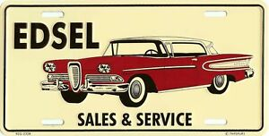 EDSEL METAL LICENSE PLATE CAR AUTO TAG EMBOSSED NUMBER PLATE #0011