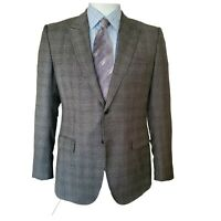 Gucci Brown Windowpane Sports Coat Men's 100% Italian Wool 42R US NWT $2,695