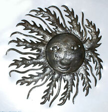 Sun in Fire Art Prints Pictures Of Wall Hanging Recycled Oil Drum Haitian 24""
