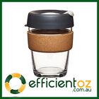Glass Keep Cup KeepCup - Brew CORK BLACK - Reusable Barista Grade Eco Coffee Cup