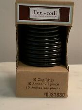 SET of 10 allen + roth bronze curtain clip rings NEW NIB