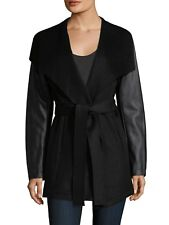 Laundry by Shelli Segal Women Wool Jacket Coat   Double Face Black Size M