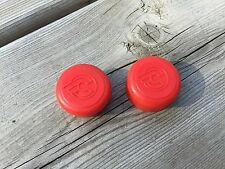 VINTAGE CINELLI HANDLEBAR END CAPS BAR END CAPS CAP PLUG PLUGS BARTAPE RED NOS