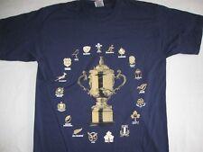 RUGBY 2015 WORLD CUP  TOUR T-shirt TOP New NAVY BLUE MEDIUM