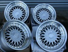 "16"" SILVER RS ALLOY WHEELS FITS 4x100 AUDI BMW CHEVROLET CITROEN DACIA DAIHATSU"