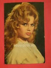 BRIGITTE BARDOT BB attice cinema vecchia cartolina ORIGINAL vintage postcard